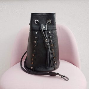 Nausica. Leather bucket bags Made in Italy