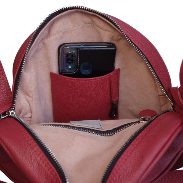 Tamburella. Leather round bags Ganza Roma