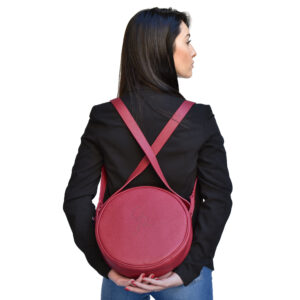Tamburella. Leather round bags Ganza Roma