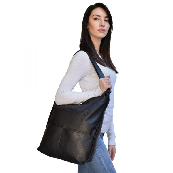 Leather backpack purse bag-1