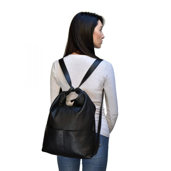 Leather backpack purse bag