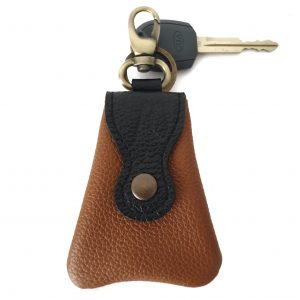 Dudù. Leather keychain - Ganza Roma - Made in Italy