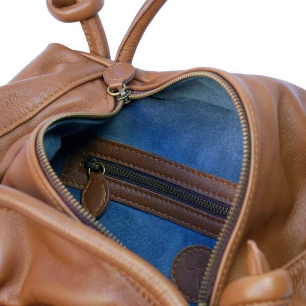 Isotta. Leather tote bag handles - Made in Italy