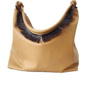 Manila. Leather hobo shoulder bag