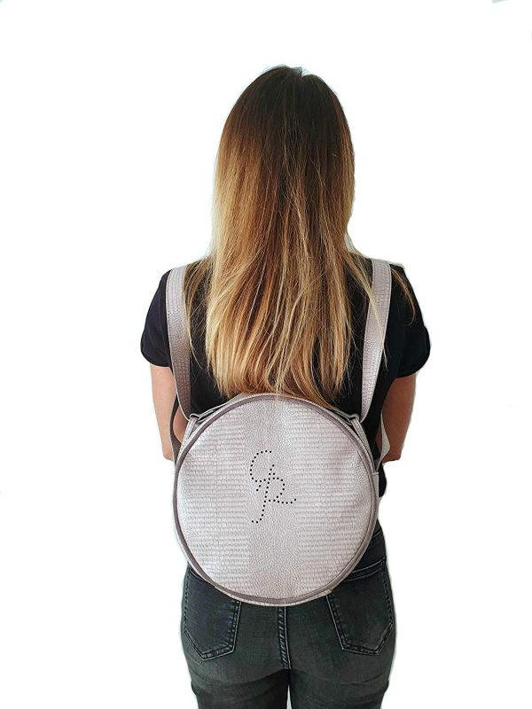 Tamburella. Leather round bags - Made in Italy