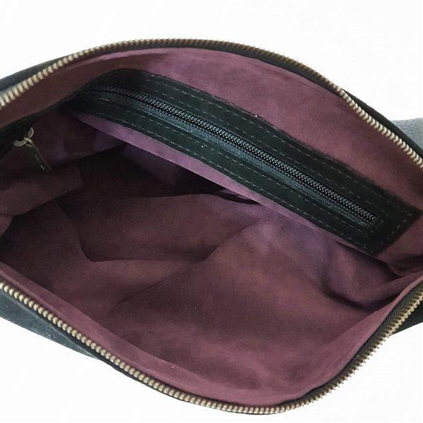 Chiara. Wildleder Clutch Tasche Italienisch handgefertigt