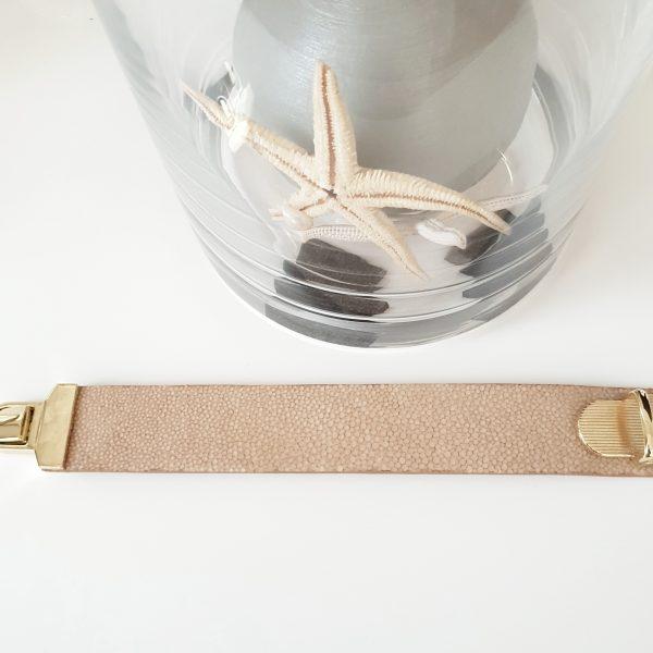 Cristel. Stingray leather bracelet - Ganza Roma - Made in Italy