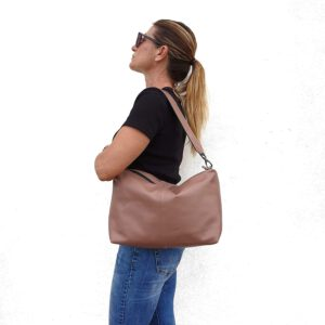 Falena. Leather shoulder bag - Made in Italy