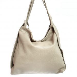 Amante. Leather beige backpack shoulder bag - Ganza Roma