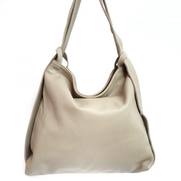 Amante. Leather beige backpack shoulder bag - Ganza Roma