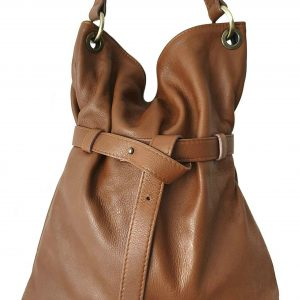 Guappa. Leather crossbody bag - Made in Italy