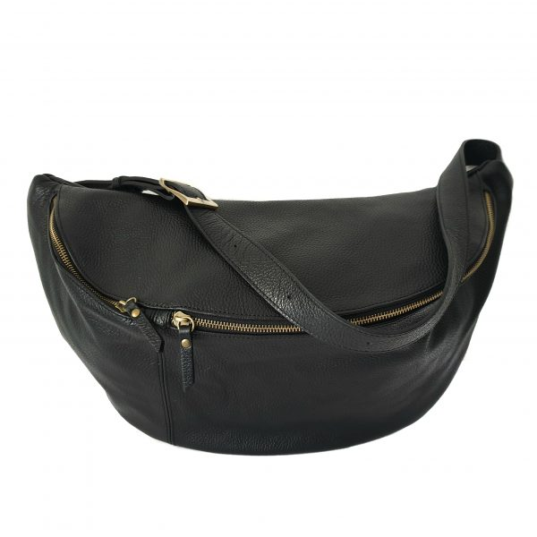 Leather fanny pack Backpack for women Italian Handcrafted