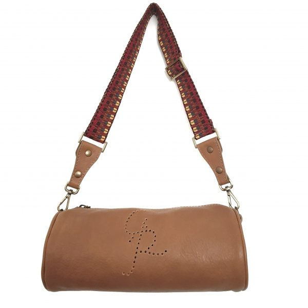 Spillo. Leather Cylinder Bag - Made in Italy