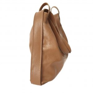 Amante. Leather cognac backpack shoulder bag - Ganza Roma