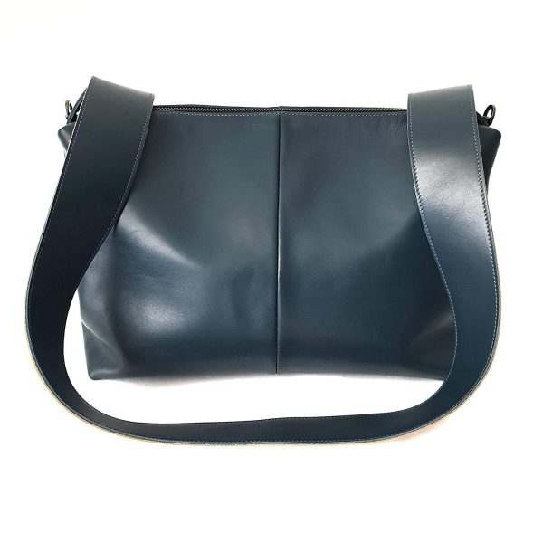 Falena. Leather crossbody bag - Made in Italy