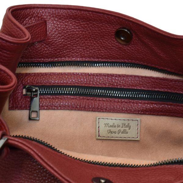 Claudia Leather Shopper Tote bag for Women Italian Handmade