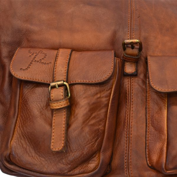 Adriano Big Leather Backpack Convertible Vintage Handmade