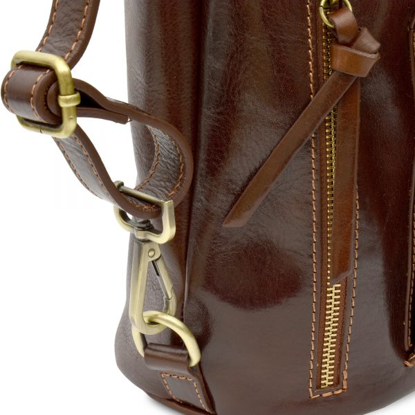 Elena - Women's handbag made of genuine leather Transformable into a backpack Handcrafted Elena