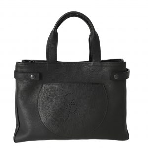 Flavia - Leather Shopper Bag with shoulder strap - Handmade in Italy