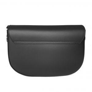Giulia Black Leather Saddle bag