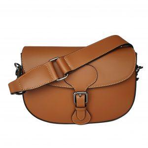 Giulia Cognac Leather Saddle bag